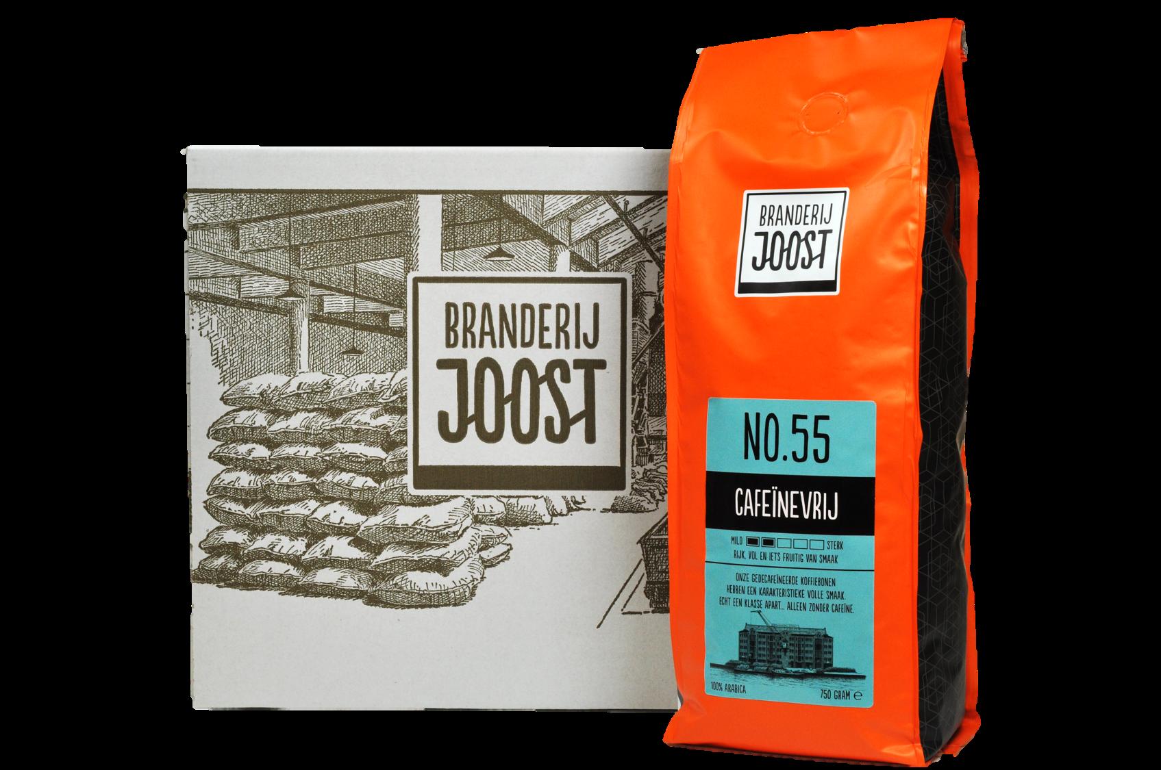 No.55 Cafeïnevrij 6 x 750g  doos voordeelprijs