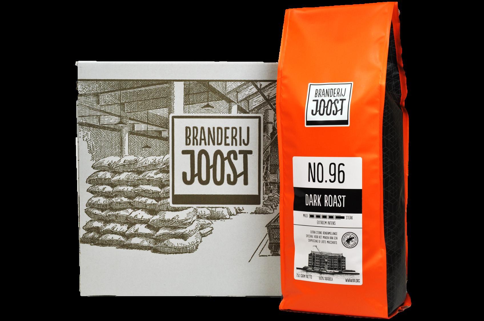 No.96 Dark roast 6 x 750g doos voordeelprijs